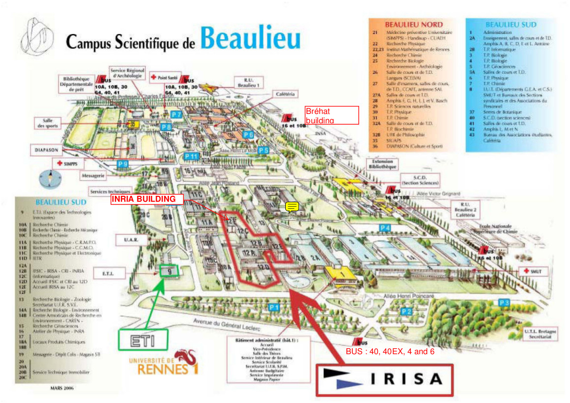 Rennes eval - How To Reach The Conference Place
